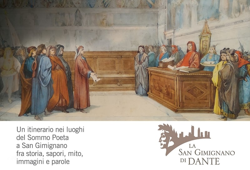 Dante a San Gimignano